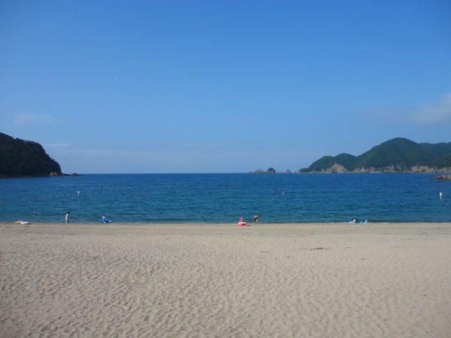 佐津海岸はプライベートビーチのような海岸