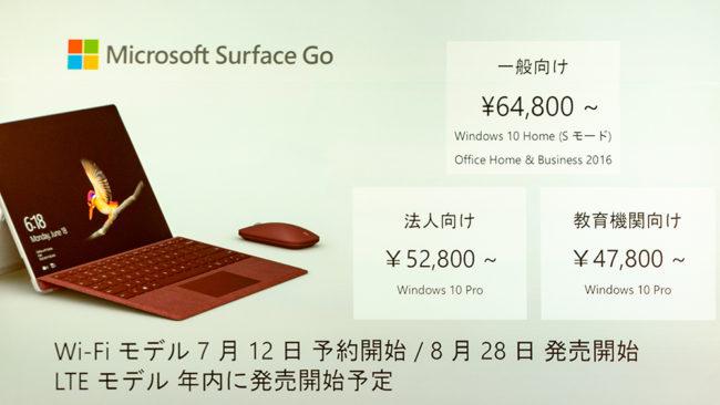 Microsoftの戦略的最新機種「Surface Go」