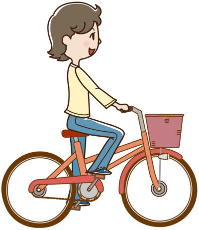 会社に交通機関を使った事にして自転車で通勤する女性